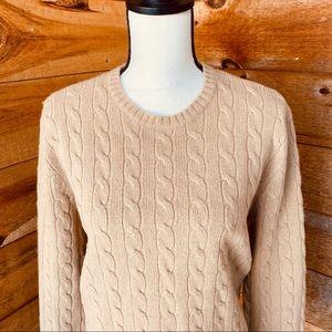 Ralph Lauren Cable Knit Cashmere Blend Sweater XL